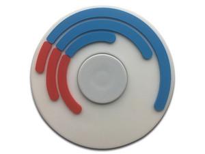 Fidget Spinner Brobotix. Color Blanco, diseño de Hipnosis.