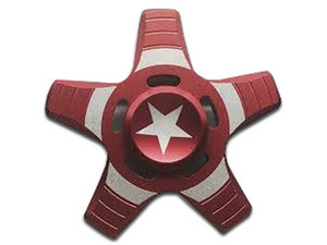 Fidget Spinner Brobotix. Color Rojo, diseño Escudo Capitán América.