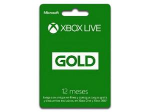 Tarjeta Microsoft 25J-00021 Xbox Live 12 Meses Gold
