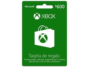 Tarjeta de Regalo Xbox 600MXN.