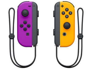 Mando Joy-Control (L-R) para Nintendo Switch. Color Naranja y Morado.
