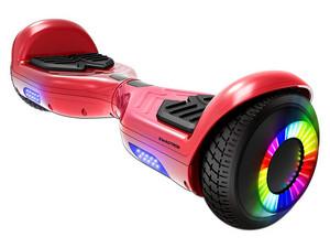 Hoverboard Eléctrico Swagtron Swagboard Twist Remix, Ilimunación LED en ruedas. Color Rojo.