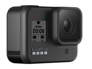 Cámara GoPro HERO8 Black, Grabación 4k a 60 fps, sumergible hasta 10m, Wi-Fi, Bluetooth.