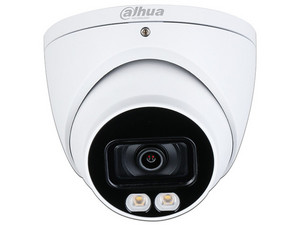 Cámara de vigilancia tipo domo Dahua HDW1239T-A-LED de 2MP con lente fijo de 3.6mm.