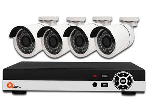 Kit de seguridad Qian Yao Pentahíbrido de 8 Canales, con 4 cámaras tipo bullet + 4 Canles adicionales IP, Soporta HDD hasta 6TB(No incluye Disco Duro).
