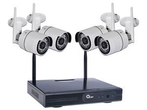 Kit de vigilancia Qian de 4 cámaras de 1MP y 1 DVR de 4 canales 720p.