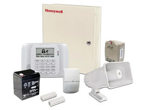 Kit de alarma Honeywell VISTA48ECO, Sensor de Movimiento / Sirena / Panel de Control.