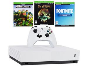 Consola Xbox One S All Digital de 1 TB. Color Blanco. con 3 Códigos de Juegos.