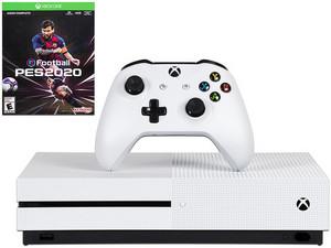 Consola Xbox One S de 1 TB con juego PES 2020, incluye 1 mes de Xbox Live Gold.
