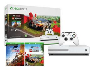 Consola Xbox One S de 1 TB, Color Blanco. incluye juego Forza Horizon y Lego Speed Champions.