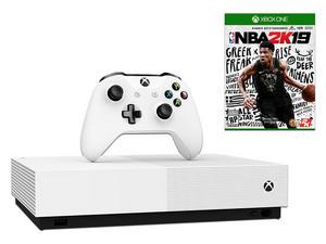 Consola Xbox One S de 1 TB, Color blanco, Incluye Videojuego NBA 2K19.
