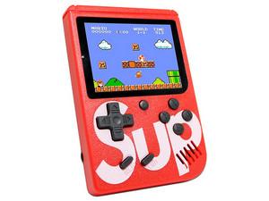 Mini Consola Sup Game Box 400 juegos Recargable. Color Rojo.