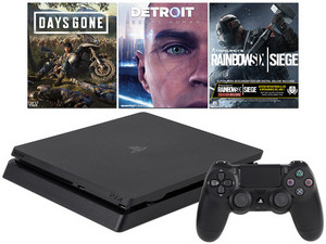 Consola PlayStation 4 Hits Bundle de 1 TB, incluye juegos Days Gone, Detroit: Become Human, Tom Clancys Rainbow Six Siege.