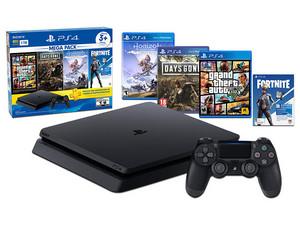 Consola PlayStation 4 Mega Pack de 1 TB, incluye juegos Days Gone, Grand Theft Auto V, Horizon Zero Dawn.