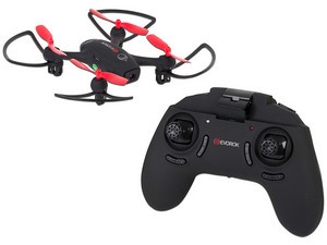 Mini Drone Evorok EAGLE II, con batería de 520MAh. Color negro.