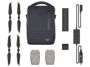 Kit para drone DJI Mavic 2 Fly More, Baterías, Cargador, Adaptador, Hélices, Mochila Color Gris.