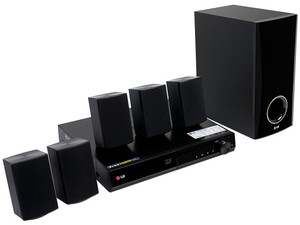 Home Theater LG, Audio 5.1, Dolby Digital HD, DTS HD, Reproductor de Blu-ray 3D, LG Smart TV, sintonizador FM, USB, 330 Watts RMS.