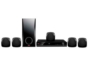 Home Theater LG DH4130S, Audio 5.1, Reproductor de DVD, USB Recording, 330 Watts.