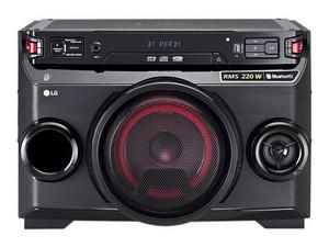 Minicomponente portátil LG 220W, con Conexión Bluetooth, color negro.