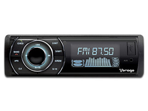 Auto estéreo Vorago CAR-300 con Bluetooth, radio FM/AM, USB.