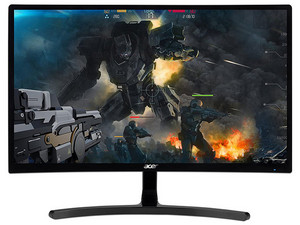 "Monitor Gamer Curvo Acer ED242QR de 23.6\"", Resolución 1920 x 1080 (Full HD 1080p), 4 ms."