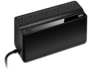 No-Break APC BE-425M-LM de 425VA/255 Watts con 6 contactos. Color Negro.