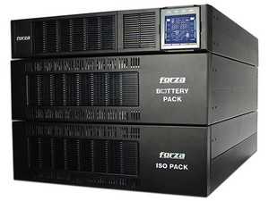No-Break Forza FDC-106KMR-ISO, 6000VA/6000W, Salida de Bloque Terminal, 3U. Color Negro.