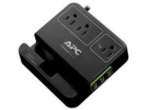 Regulador de Voltaje APC Essential SurgeArrest de 3 contactos NEMA 5-15R y 3 USB de carga. Color Negro.
