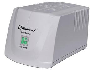 Regulador Koblenz ER-2000 de 2000VA/800W con 8 contactos. Color Blanco.