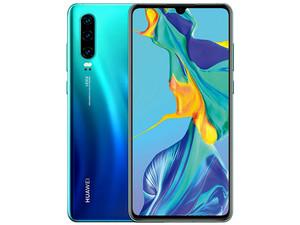 "Smartphone Huawei P30: Procesador Kirin 980 Octa Core (hasta 2.6 GHz), Memoria RAM de 6GB, Almacenamiento de 128GB, Pantalla LED Multi Touch de 6.1\"" FHD+, Wi-Fi, Bluetooth 5.0, 4G LTE, Android 9, Color Azul."