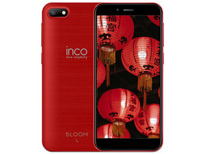 "Smartphone Inco Bloom 4: MTK6580M Quad-Core (1.3 GHz), Memoria RAM de 2GB, Almacenamiento de 16GB, Pantalla 5\"" 1280 x 720, Wi-Fi, 4G, Android 8.1. Color Rojo."