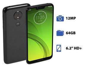"""Smartphone Motorola Moto G7 Power: Procesador Snapdragon 632 Octa Core (1.8 GHz), Memoria RAM de 4GB, Almacenamiento de 64GB, Pantalla 6.2\"""" HD+, Bluetooth 5.0, Wi-Fi, 4G, Android 9.0 Pie."""
