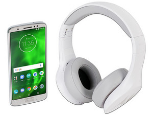"Smartphone Motorola Moto G6: Procesador Snapdragon 450 Octa Core (1.48 GHz), Memoria RAM de 3GB, Almacenamiento de 32GB (expandible con microSD), Pantalla 5.8\""(2160 X 1080) Full HD+, Android 8.1 Oreo. Incluye Audifonos Motorola Bluetooth."