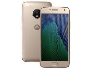 "Smartphone Motorola Moto G5 Plus: Procesador Qualcomm Octa-Core (2.0 GHz), Memoria RAM de 2GB, Almacenamiento de 32GB (expandible con microSD), Pantalla 5.2\""(1920x1080), Bluetooth 4.0, Wi-Fi, 4G, Nano SIM, Android 7.0. Color Oro."