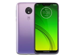 """Smartphone Motorola Moto G7 Power: Procesador Snapdragon 632 (1.8 GHz), Memoria RAM de 4GB, Almacenamiento de 64GB, Pantalla LED Multi Touch de 6.2\"""" HD+, Wi-Fi, Bluetooth 4.2, 4G, Android 9, Color Morado."""
