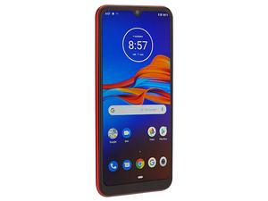 "Smartphone Motorola Moto E6 Plus: Procesador Octa-Core Helio P22 (2.0 GHz) Memoria RAM de 2GB, Almacenamiento de 32GB, Pantalla LED Multi Touch de 6.1\"" HD+, Bluetooth, Wi-Fi, Cámara principal de 13 MP, Android 9 Pie. Color Rojo."