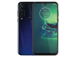"Smartphone Motorola Moto G8 Plus: Procesador Snapdragon 665 octa-core (2.0GHz), Memoria RAM de 4GB, Almacenamiento de 64GB, Pantalla LED Multi Touch de 6.3\"" HD+, Bluetooth, Wi-Fi, Cámara principal de 48 MP, Android 9 Pie. Color Azul."
