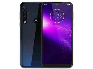 "Smartphone Motorola Moto One Macro: Procesador Octa Core (hasta 1.5 GHz), Memoria RAM de 4GB, Almacenamiento de 64GB, Pantalla LED Multi Touch de 6.2\"" HD+, Bluetooth 4.2, Wi-Fi, Android 9 Pie. Color Azul."