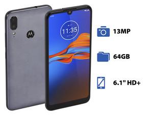 "Smartphone Motorola Moto E6s: Procesador MediaTek Helio P22 (hasta 2.0 GHz), Memoria RAM de 4GB, Almacenamiento de 64GB, Pantalla LED Multi Touch de 6.1\"" HD+, Bluetooth 4.2, Wi-Fi, Dual SIM, Cámara principal de 13 MP, Android 9 Pie."