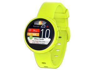 """Smartwatch MyKronoz ZeRound3 Lite, pantalla de 1.22\"""", Compatible con IOS y Android. Color Amarillo."""