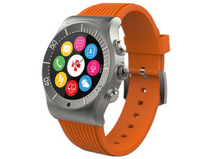 SmartWatch MyKronoz ZeSport, compatible con iOS y Android, Bluetooth 4.0. Color Gris/Naranja.