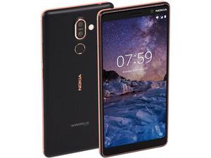 """Smartphone Nokia 7 Plus: Procesador Snapdragon 660 (hasta 2.2 GHz), Memoria RAM de 4GB, Almacenamiento de 64GB (expandible con microSD), Pantalla de 6\"""" FHD+, Bluetooth 5.0, Wi-Fi, 4G, Dual SIM, Android 8.1. Color Negro."""