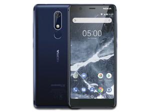 "Smartphone Nokia 5.1: Procesador MT6755S Octa-Core (2.0 GHz), Memoria RAM de 2GB, almacenamiento de 16GB, (Expandible con MicroSD), Pantalla de 5.5\"" HD+, Bluetooth, Wi-Fi, 4G, Android 8.1. Color Azul."