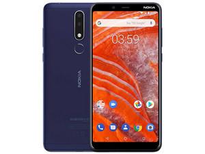 "Smartphone Nokia 3.1 Plus: MediaTek MT6762 Helio P22 Octa-Core (hasta 2.0 GHz), Memoria RAM de 3GB, Almacenamiento de 32GB, Pantalla LCD de 6\"", Bluetooth 4.1, Wi-Fi, Android 8.1, Color Azul."