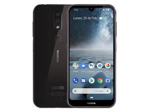 "Smartphone Nokia LTE 4.2: Procesador Qualcomm Snapdragon 439 Octa Core (hasta 2.0GHz), Memoria RAM de 3 GB, Almacenamiento de 32 GB Pantalla LED Multi Touch de 5.71\"" HD+, Bluetooth 4.2, Wi-Fi, 4G, Android 9. Color Negro."