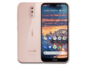 "Smartphone Nokia 4.2 TA-1149: Procesador Qualcomm Snapdragon 439, Memoria RAM de 2GB, Almacenamiento de 16GB Cámaras: 13MP/8MP, Pantalla de 5.71\"", Red Bluetooth, Wi-Fi 802.11 a/b/g/n, Android 9 Pie. Color Rosa."