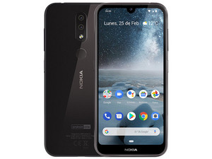"Smartphone Nokia 4.2: Procesador Qualcomm Snapdragon(hasta 2.0GHz), Memoria RAM de 3 GB, Almacenamiento de 32 GB, Pantalla LED Multi Touch de 5.7"" HD+, Bluetooth 4.2, Wi-Fi, 4G, Android 9. Color Negro."