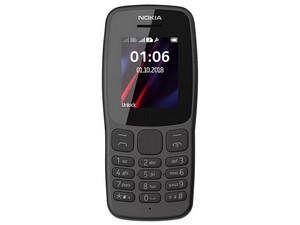 "Celular básico Nokia 106 TA-1190: Procesador Mediatek MT6261D, Memoria RAM de 4MB, almacenamiento de 4MB, Pantalla de 1.8\"", Radio FM, Linterna, 2G. Color Gris."