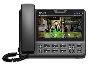 """Video Teléfono Multimedia IP Denwa, 6 Líneas, Pantalla táctil de 7\"""", Wi-Fi, 2 RJ45 Gigabit Ethernet."""