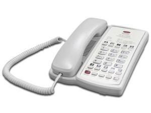 Teléfono Hotelero TH-100 de 1 línea, 10 teclas de servicio, altavoz. Color Blanco.